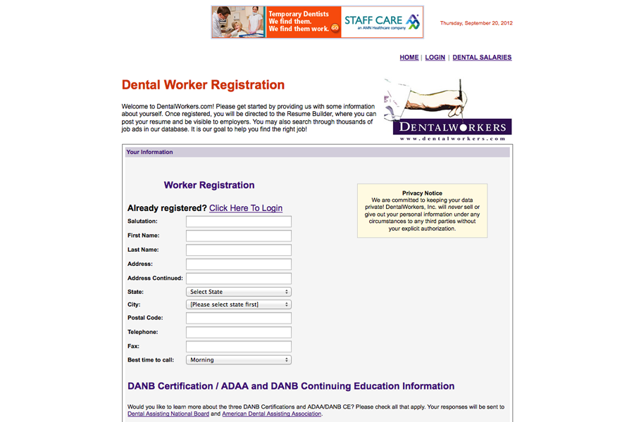 Dental Workers Portfolio Graphic 2