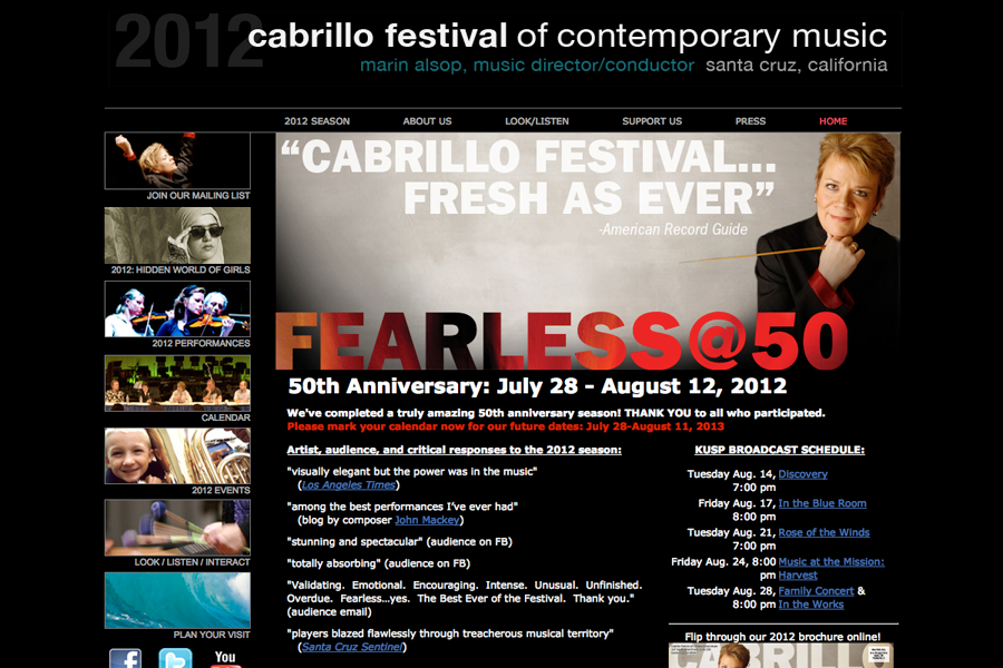 Cabrillo Music Festival Portfolio Graphic 1