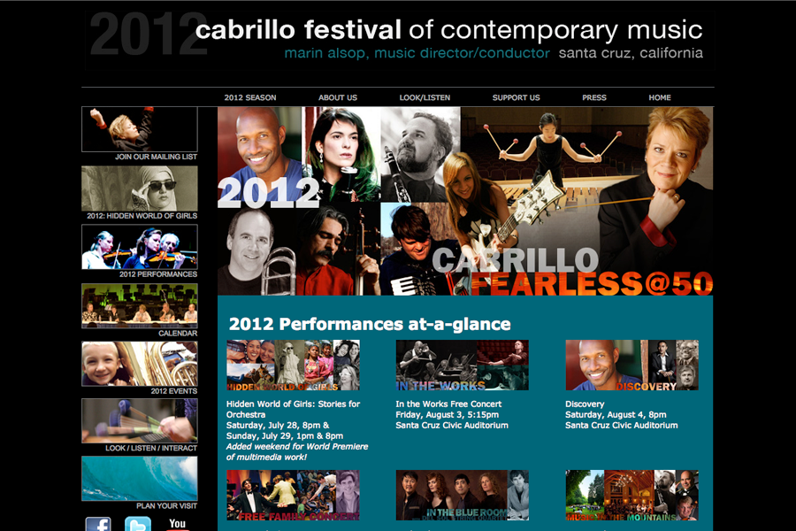 Cabrillo Music Festival Portfolio Graphic 2
