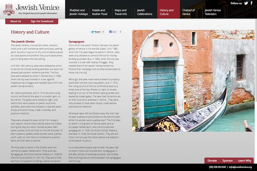Jewish Venice Portfolio Graphic 2