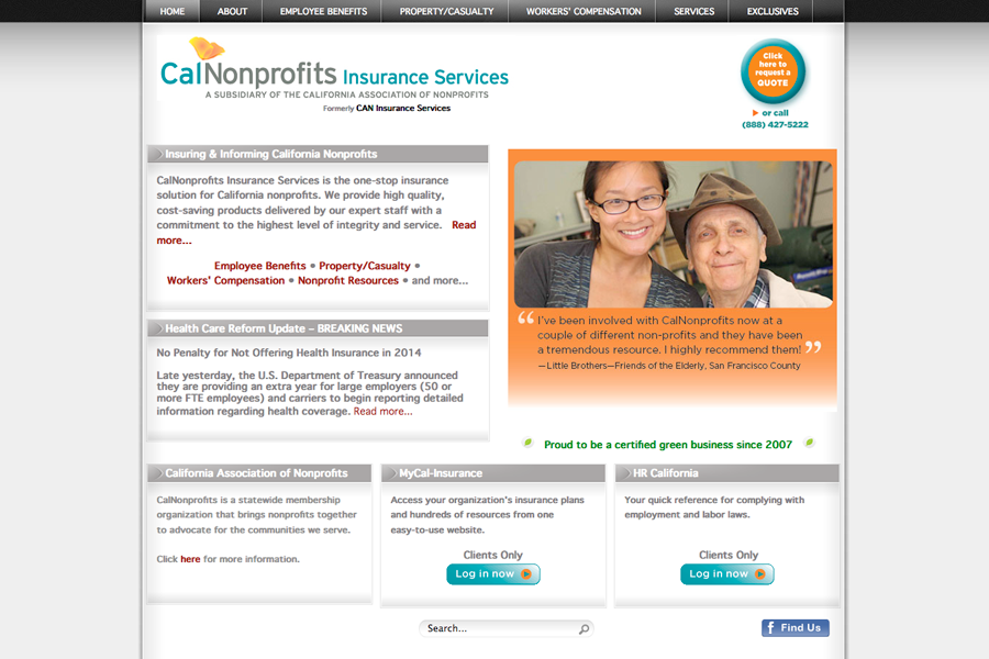 CalNonprofits Insurance Services Portfolio Graphic 1