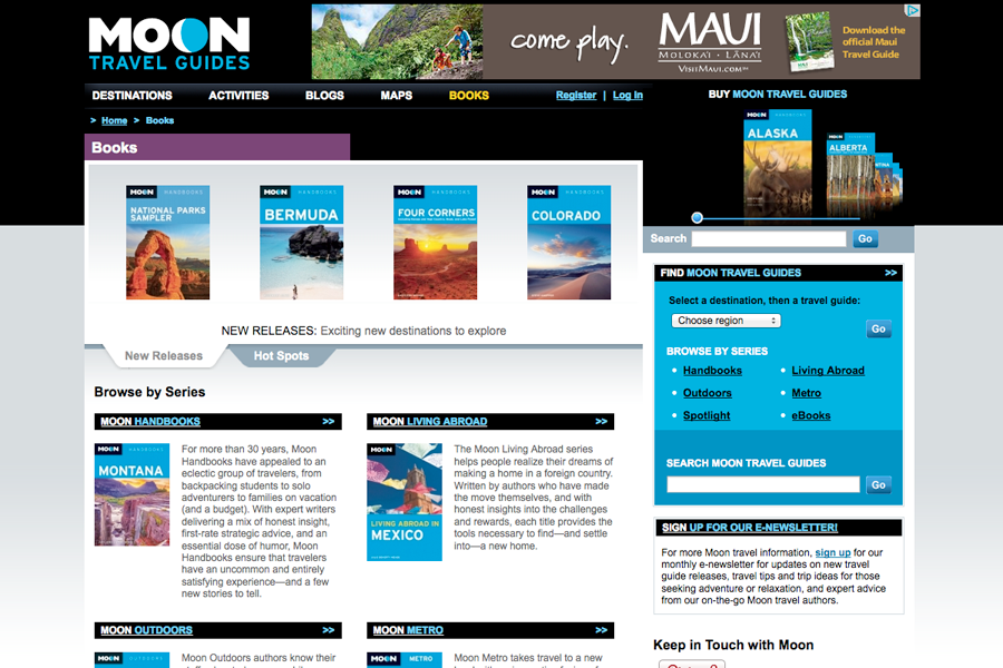 Moon Travel Guides Portfolio Graphic 2