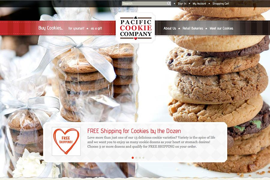 Pacific Cookie Company Portfolio Graphic 1