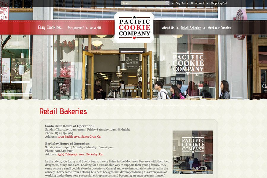 Pacific Cookie Company Portfolio Graphic 2