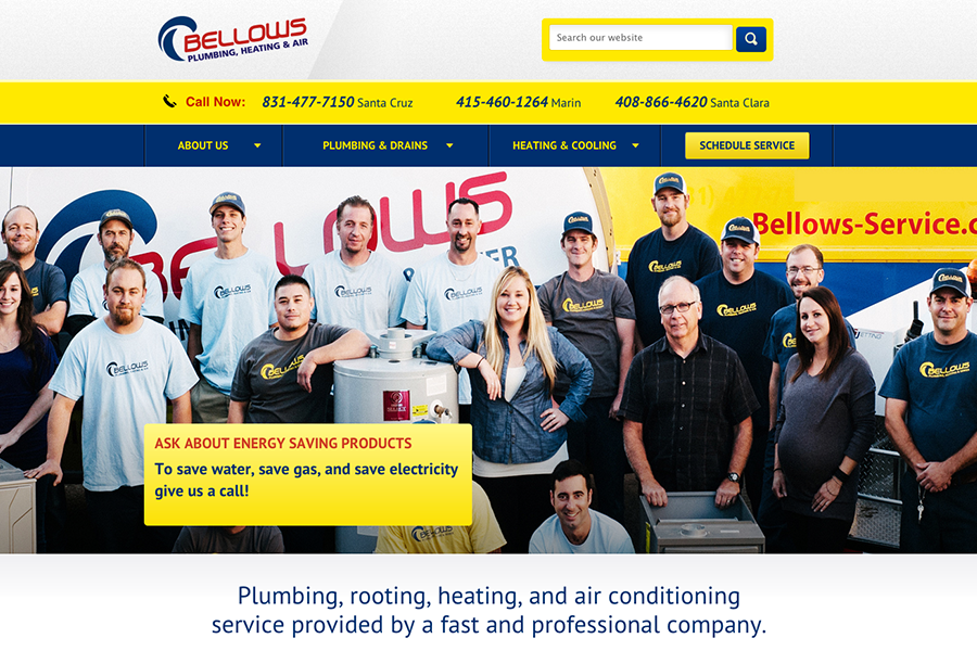 Bellows Plumbing Portfolio Graphic 1