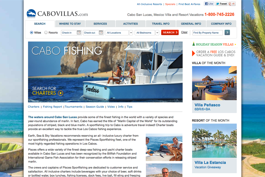 Cabo San Lucas Vacation Villas, Resorts & Hotels Portfolio Graphic 2