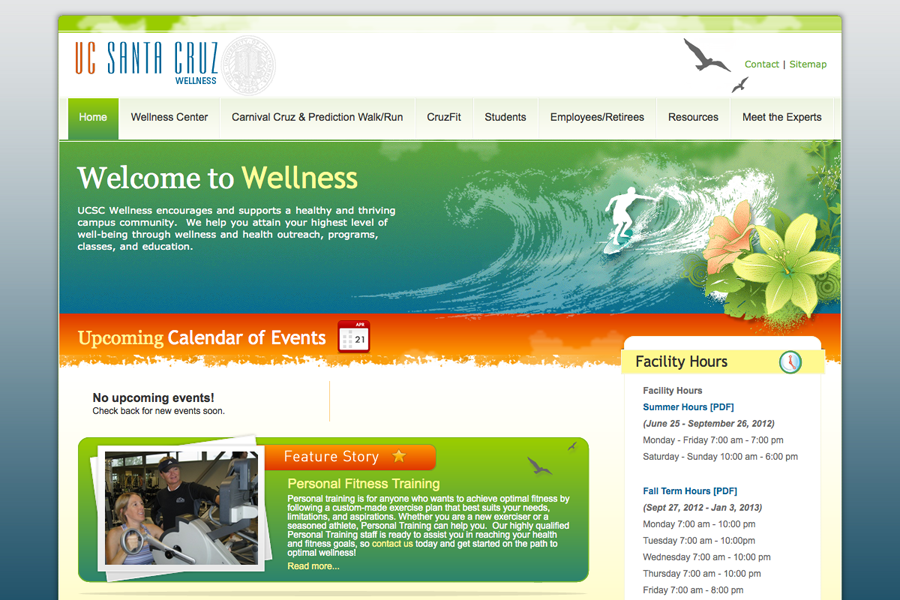 UC Santa Cruz Wellness Center Portfolio Graphic 1