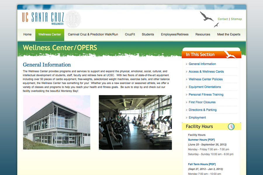 UC Santa Cruz Wellness Center Portfolio Graphic 2